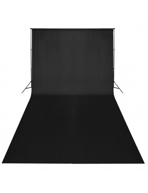 Black Backdrop 600 x 300 cm UK