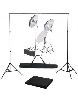 Photo Studio Kit with Light Set and Backdrop