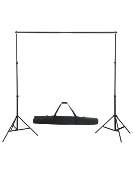 Photo studio kit with set of lights, background and reflector