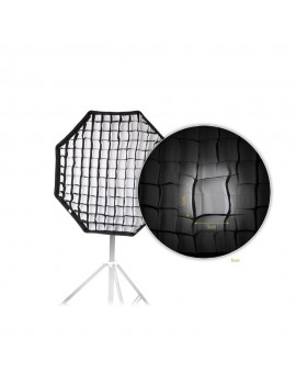 80cm / 31.5in Octagon Umbrella Softbox Brolly Reflector with Honeycomb Grid Carbon Fiber Bracket for Speedlite Flash Light