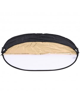 Andoer 90 * 120cm 5in1 Round Collapasible Multi-Disc Portable Circular Photo Photography Studio Video Light Reflector