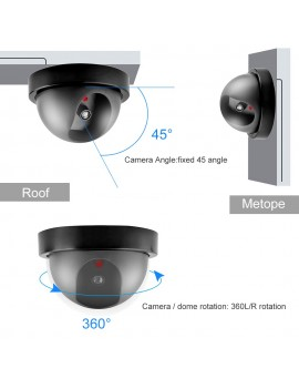 Fake Camera Dummy Waterproof Security CCTV Surveillance Camera With Flashing Red Led Light Dome Camera